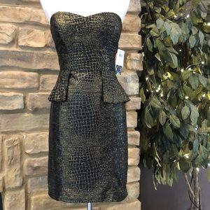 Military Camouflage Sweetheart Strapless Skater Dress